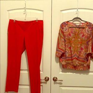 Pants and blouse set